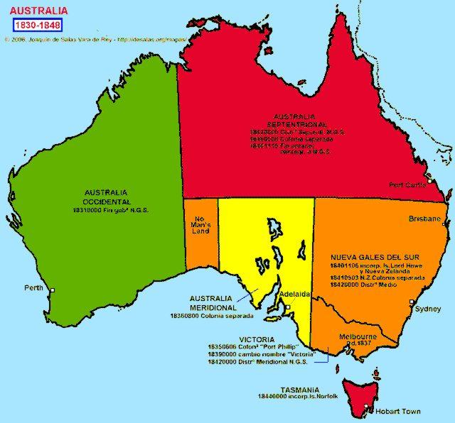 Map Of Australia 1830.Hisatlas Map Of Australia 1830 1848
