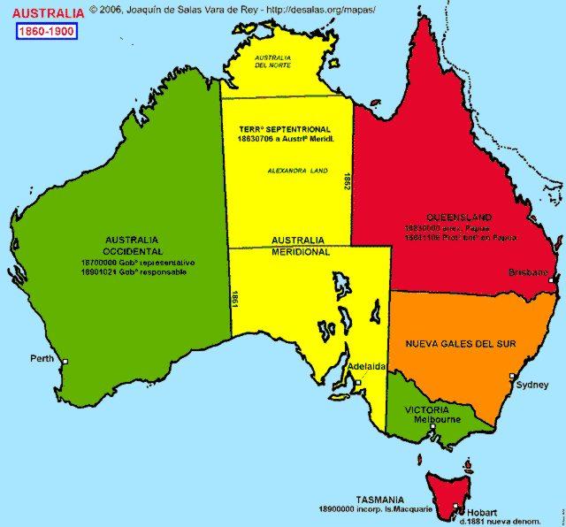 Australia Map 1900.Hisatlas Map Of Australia 1860 1900