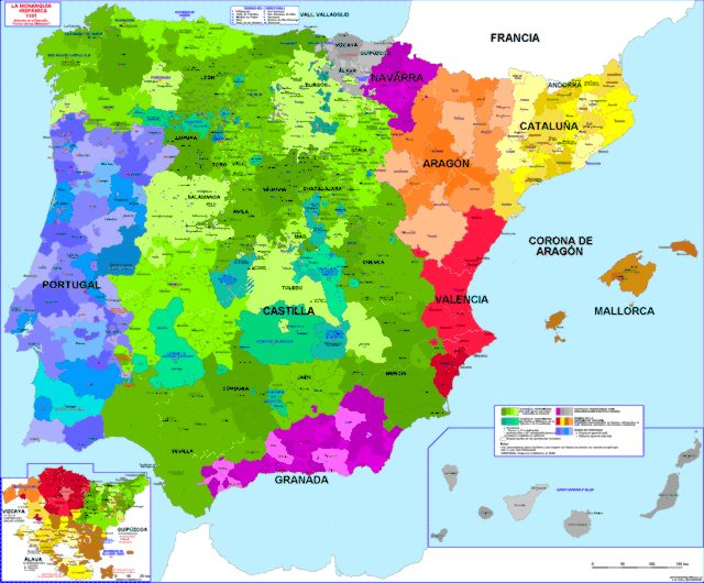 Hisatlas Map Of Iberian Peninsula - Portugal historical map