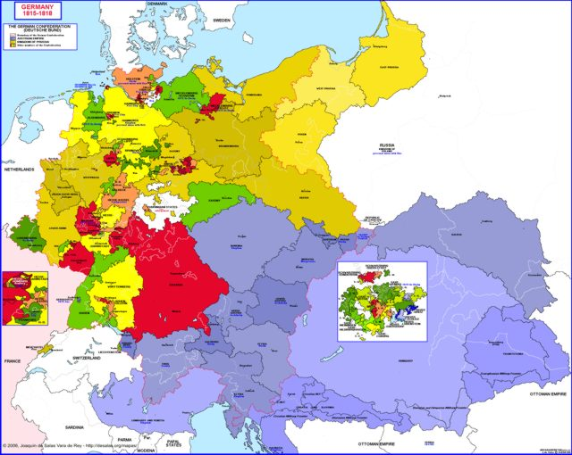 Map Of Germany 1815.Hisatlas Map Of Germany 1815 1818