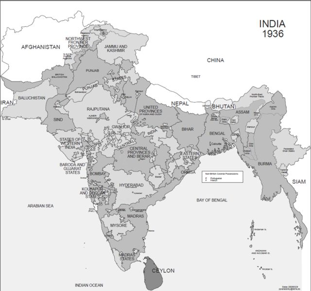 Hisatlas - Map of India 1936