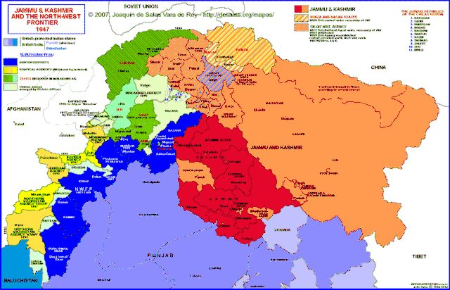 Hisatlas map of jammu kashmir and the north west frontier 1947 gumiabroncs Images