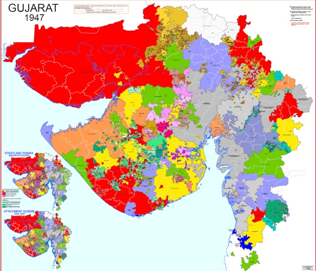 Hisatlas Map of Baroda Western India and Gujarat 1947
