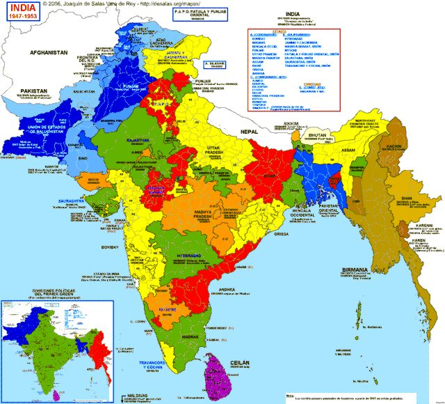 division of state in india