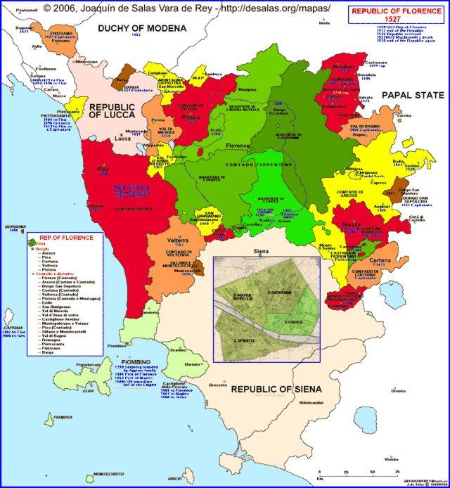 Hisatlas  Map of Florence 1527