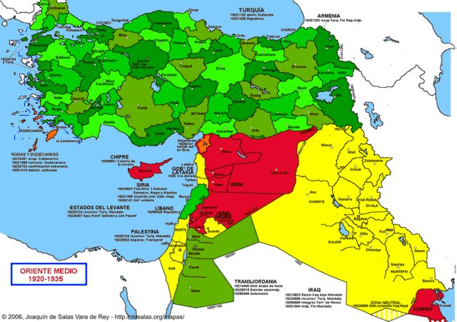 Hisatlas map of middle east 1920 1935 middle east 1935 gumiabroncs Images