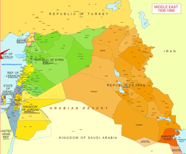 Hisatlas Map of Middle East 1966