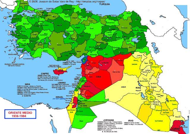 Hisatlas Map Of Middle East 1936 1994