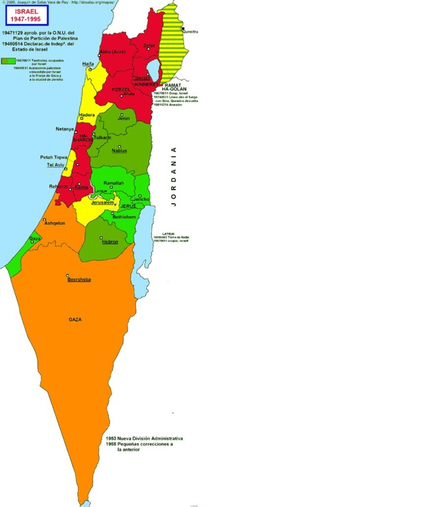 Hisatlas Map Of Israel - Mapa de israel