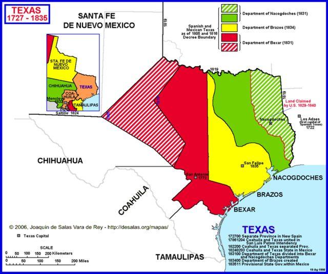 Map Of Texas 1835.Hisatlas Map Of Texas 1827 1835
