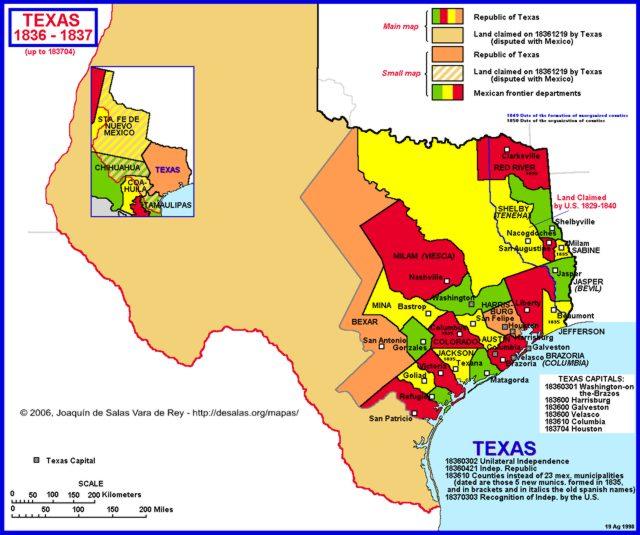 Hisatlas Map Of Texas - 1836 maps us