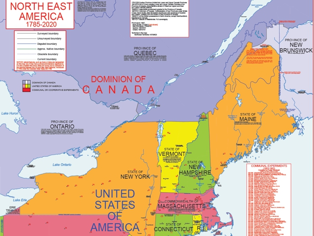 Hisatlas - Map of New England 1785-2008