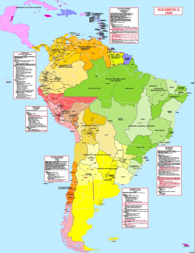 Hisatlas - Map of South America and Caribbean 1800