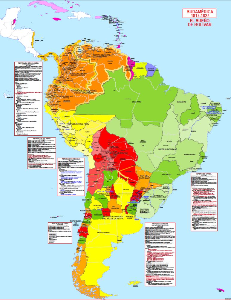 Hisatlas Historical And Political Maps Of South America
