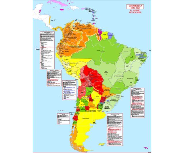 Carte De Lamerique Du Sud.Hisatlas Cartes Historiques Et Politiques De L Amerique Du Sud