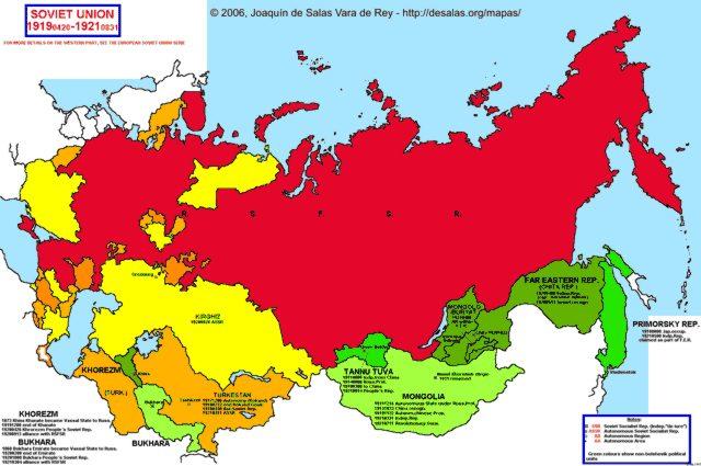 Hisatlas - Map of Soviet Union 1919-1921