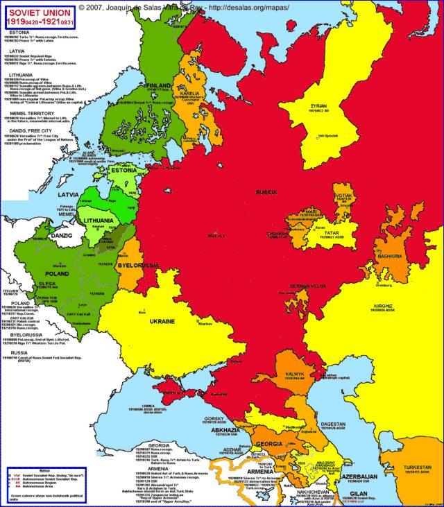 Hisatlas Map Of Soviet Union - Europe map 1919