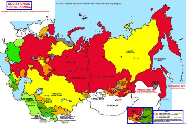Map Ussr: Map Of Old And New Ussr At Usa Maps