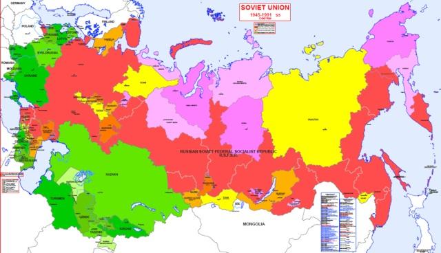Hisatlas  Map of Soviet Union 19451991