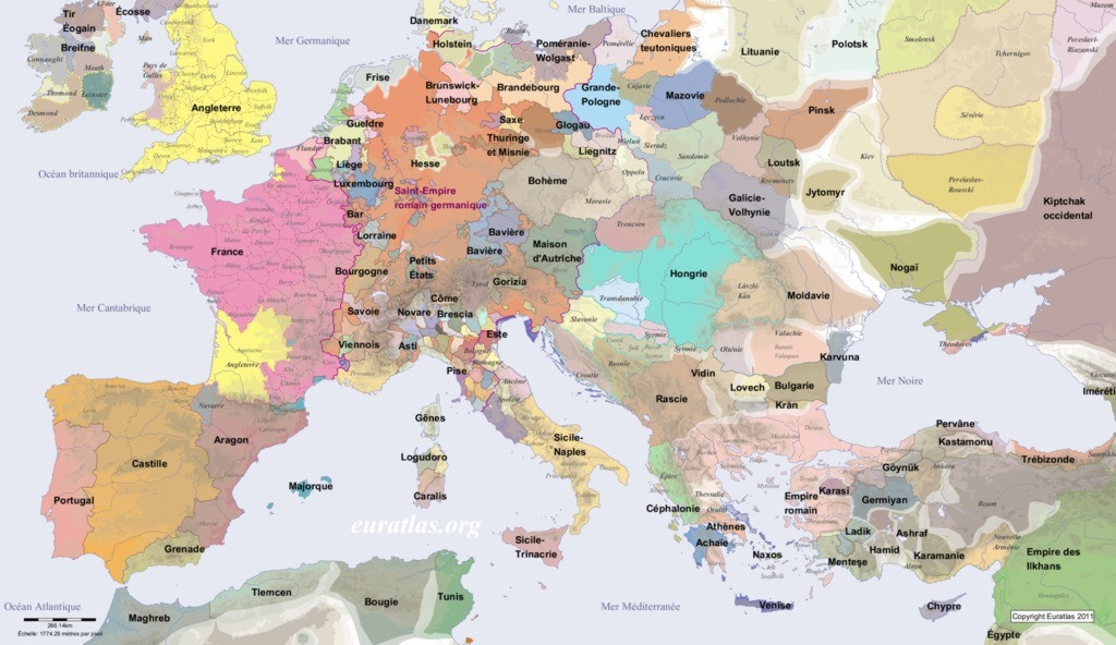 Europe in AD 1300