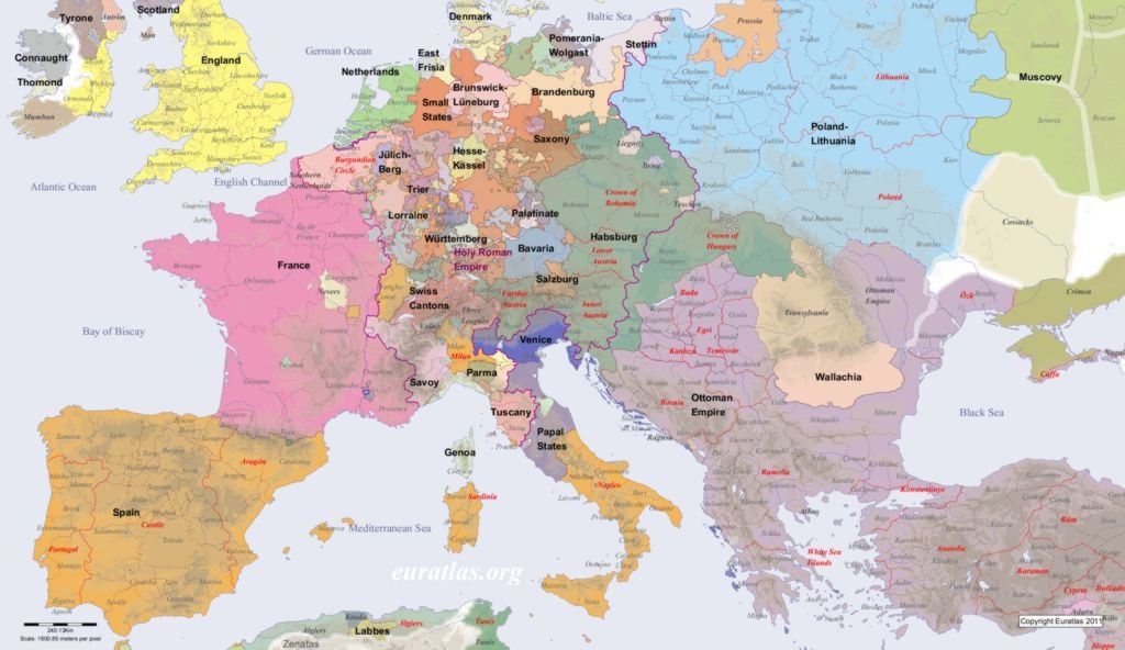 Europe in AD 1600