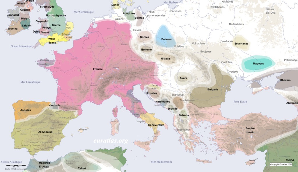Europe in AD 800