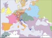 Carte de l'Europe en l'an 1700