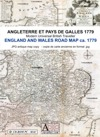 England & Wales Road Map ca 1779